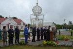 Открытие памятного знака на месте Свято-Вознесенской церкви в г.п. Лиозно